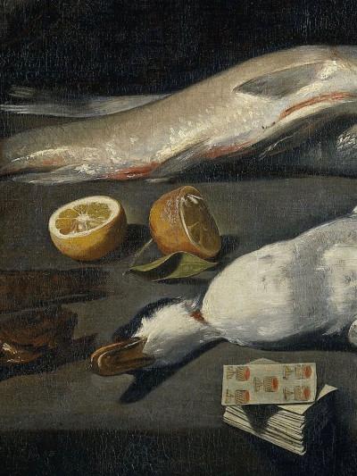 Meester van de Amsterdamse Bodegón,<br><i>Kitchen Scene</i>, 1610 -1625