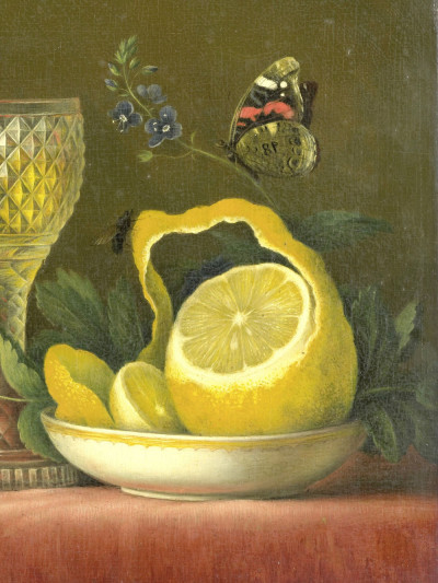 MariaMargaretha van Os, <i>Still Life with Lemon <br>and Cut Glass</i>, 1823 - 1826