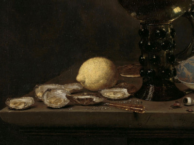 Jan Jansz van de Velde (III), <i>Still Life with Roemer, Flute Glass, EarthenwareJug and Pipes</i>, 1651