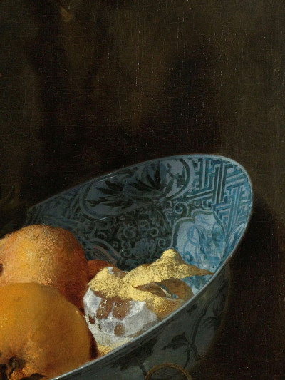 WillemKalf, <i>Still Life with a Silver Jug <br>and a Porcelain Bowl</i>, 1655 - 1660
