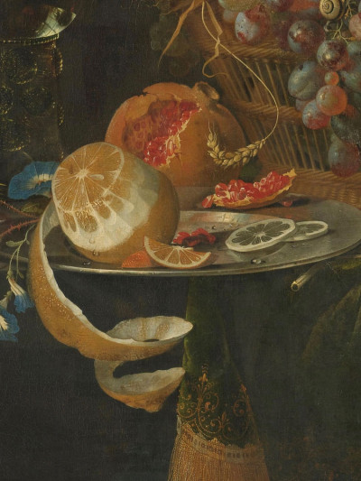 Abraham Mignon, <i>Still Life with Fruit and a Goldfinch</i>, 1660- 1679